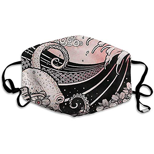 Máscaras bucales Unisex Estilo de Tatuaje japonés de Moda Dibujo Original Antipolvo Antipolución Poliéster Motocicleta Mascarilla Reutilizable