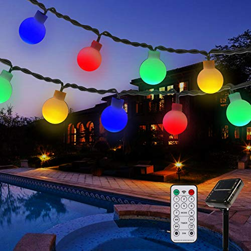 Solar String Lights Outdoor ,39.4FT 100 LED Waterproof Globe Fairy Lights...