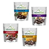 Nature's Intent Dark Chocolate Covered Dried Fruit Variety Pack- Mangoes, Figs, Strawberries & Pineapples 3.5 oz. (4 pack) Gluten Free, Whole Food Snacks