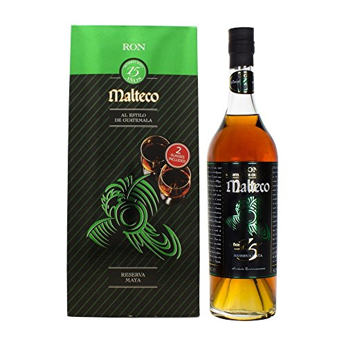 Malteco Ron 15 Años Reserva Maya mit Geschenkverpackung mit 2 Gläsern Rum (1 x 0.7 l)