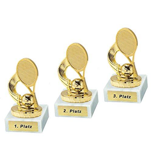 RaRu 3 Tennis-Pokale mit Ihrer Wunschgravur