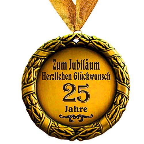 Larius Group Medaille Orden zum Jubiläum 25 Jahre Auszeichnung Ehrenorden zum Geburtstag Geschenk Jubilar Persönlichen Orden zum Geburtstag
