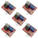 KKHMF 5個 IRF520 MOS FETドライバモジュール PWMモーター Arduino Raspberry Pi用