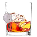 Stuck in Glass WHISKEY GLASSES | SAND DOLLAR | Original Embedded 10oz Borosilicate Rock Glassware (AT THE BEACH | 4-PACK)