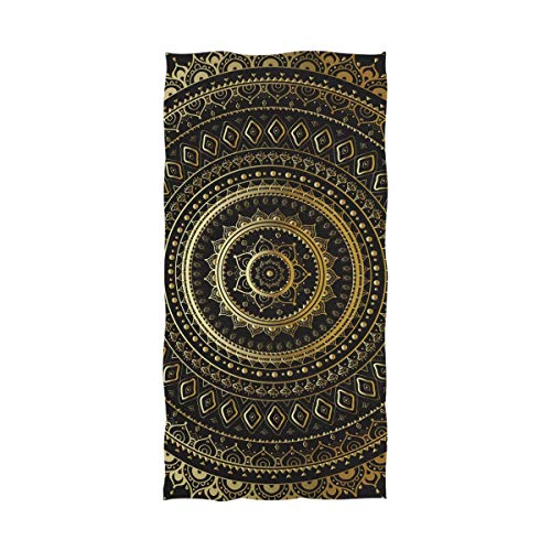 Ahomy Toalla de baño India Mandala Suave algodón Absorbente Comodidad Toalla de baño Grande para Hombres, Mujeres, niños