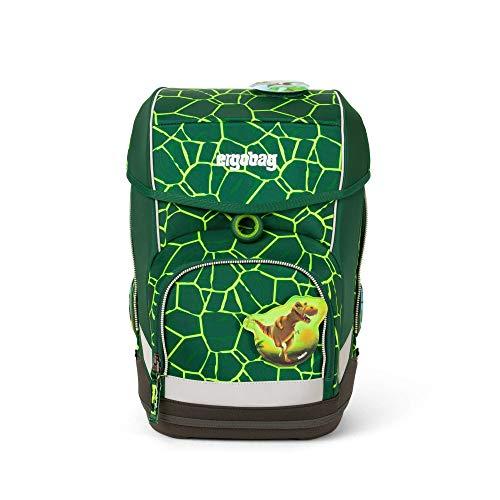 Ergobag cubo BärRex, ergonomischer Schulrucksack, Set 5-teilig, 19 Liter, 1.100 g, Grün
