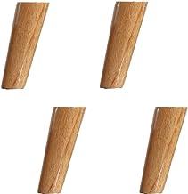 ZJZ Meubelbeen,Kastenpoten,Massief houten bankvoeten,Schuine Cone vervangende poten,4 stuks, voor salontafel, eettafel, 6c...