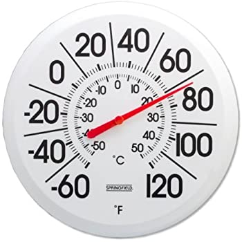Big Outdoor Thermometer Vertical Patio Porch Deck Outside 16in Back Wall Best A