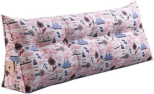 Almohadas de Lectura Triángulo Cama de la almohadilla de la cuña del amortiguador de la almohadilla, Cabecera acolchado del respaldo de la almohadilla cama leyendo almohada cubierta Rodillo grande lum