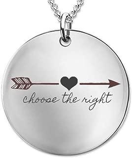 DLC Novelties CTR Necklace - LDS Gift - Laser Engraved Pendant Keepsake for Baptism, Missionary, Young Women
