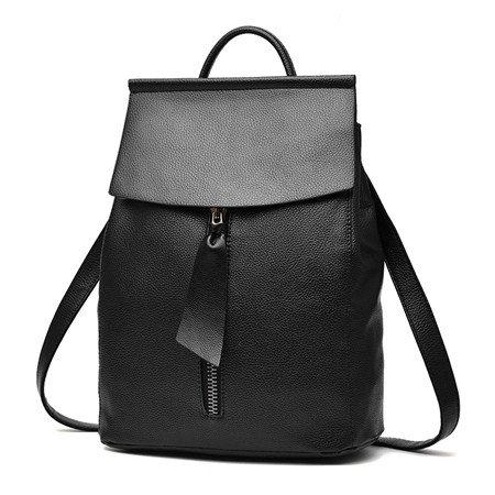 liningwoman mochila diseñadores de moda español marca bolso de escuela Estudiantes Mochilas Soild Negro Azul, negro