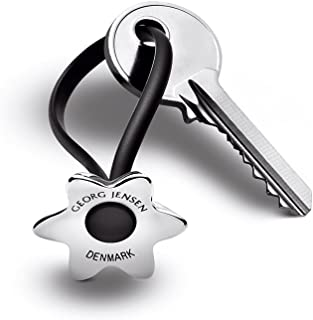 Georg Jensen Flower Stainless Steel Key Ring by Klaus Rath