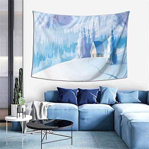 N\A Tapiz para Colgar en la Pared, tapices de Escena de Nieve de Invierno para Dormitorio, Sala de Estar, Dormitorio, Manta de Pared, Toallas de Playa, decoración del hogar