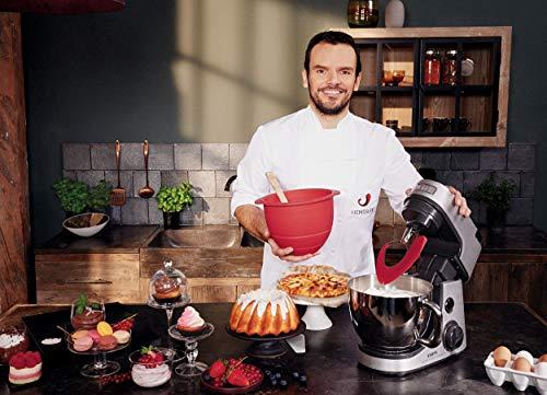 Krups KA631D11Master Perfect Gourmet Küchenmaschine (1100 Watt, Gesamtvolumen: 4,6 Liter, inkl.: Back-Set, Schnitzelwerk, Fleischwolf, Delica Tool, Flex Bowl, Flex Whisk) silber - 3