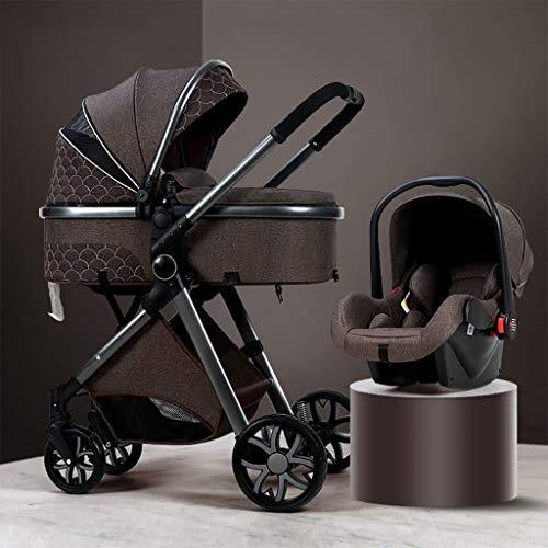 Cochecitos de bebé Jogger 3 en 1 para cochecito de bebé, ventilador portátil para cochecito de bebé, alto paisaje, antigolpes, con organizador de cochecito, utilizado en 0-3 años de edad (color: G)