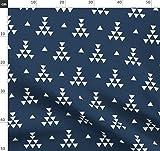 Marineblau, Weiß, Dreiecke, Tipi, Aztekisch, Indigen