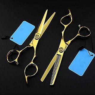 Hair Cutting Scissors Shears Kit Professional Hair Cutting Kit Tooth Shears Scissor&Straight Scissors Home Hair Cutting Sh...