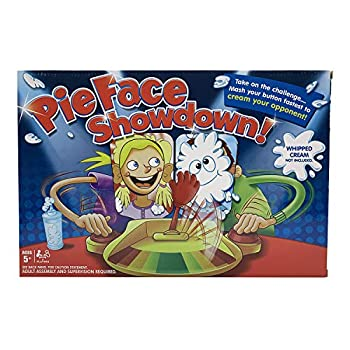 Pie Face Game 2 Players,Pie in The Face Game ,Pie Face Showdown Game,Fun Family Toys for Kids Whipped Cream Not Included  2 Pcs Surprise Blind Ball Free for New Year Gift