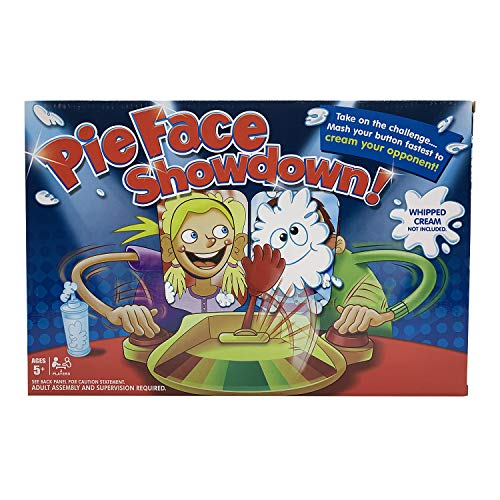 Pie Face Game 2 Players,Pie in The Face Game, ,Pie Face Showdown Game,Fun Family Toys for Kids, Whipped Cream(Not Included), 2 Pcs Surprise Blind Ball Free for New Year Gift
