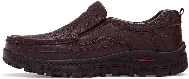 Jincosua Jincosua Jincosua Mens Echtes Leder Driving Schuhe Weiche Sohle Rutschfeste Casual Atmungs Loafers (Farbe   Braun, Größe   EU 45)  b1865e