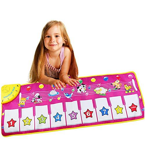 WDXIN Bébé Tapis Musical Piano Multifonctionnel Pliable Âge Applicable Nourrissons (0-2 Ans), Enfants (3-6 Ans)