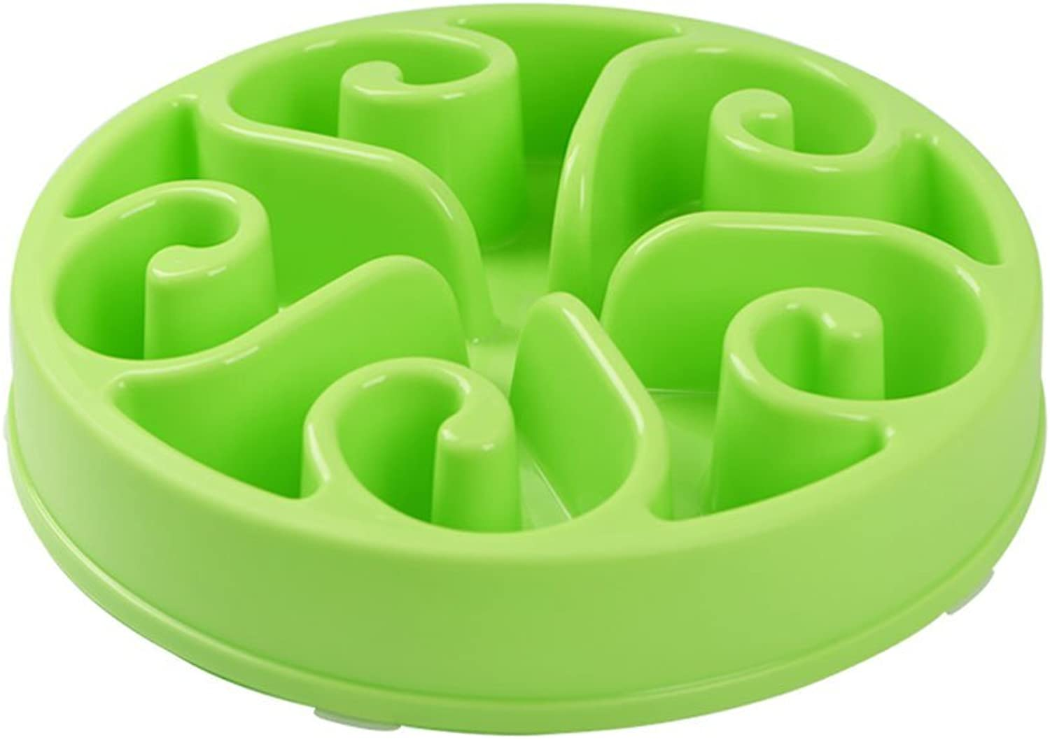 Pet Bowl Cat Dog Slow Food Flood Prevention Food Bowl Single Bowl Water Bowl Medium and Large Dogs Pet Supplies (color   Green)