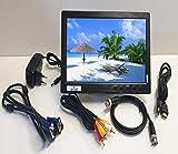 Monitor a colori da 10,1 pollici IOCOMANDO, TFT LCD Full HD 1024 x 600 BNC/AVI/VGA/ingress...