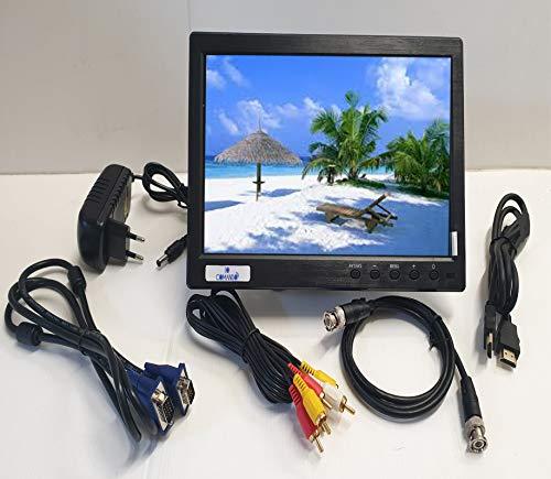 Monitor a colori da 10,1 pollici IOCOMANDO, TFT LCD Full HD 1024 x 600 BNC/AVI/VGA/ingresso HDMI, compatibile con PC, DVD, TV, telecamera di sorveglianza e telecamera di backup