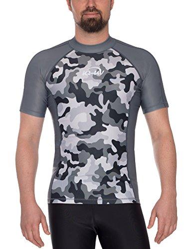 iQ-UV Herren 300 eng geschnitten, UV-Schutz T-Shirt, Grau, XXL