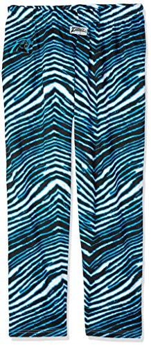 Zubaz NFL Carolina Panthers Mens Classic Zebra Printed Athletic Lounge Pants, Black/Panther Blue XX-Large>