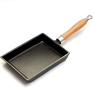 Sartén, hierro fundido, sin recubrimiento, huevo grueso jade wok wok japonés rollo de