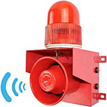 YJINGRUI Industrial Sound and Light Alarm Siren Waterproof/Dustproof Horn Alarm System with Adjustable Voice and Volume 0~120 db (DC 12V)