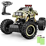 BEZGAR 12 Toy Grade 1:12 Scale Remote Control Crawler, 4WD High Speed 15 Km/h All Terrains Electric Toy Off Road RC Monster Vehicle Truck Car with Rechargeable Batteries for Boys Kids Teens and Adults