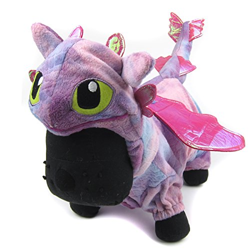 Alfie Pet - Night Fury Dragon Costume - Color: Pink, Size: XS
