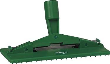 "Vikan 55002 Floor Model Scrub Pad Holder, 9"" L x 3-45/64"" W Polypropylene, Green"