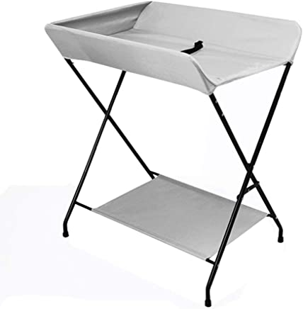 LNDDP Baby Changing Table Folding for Diaper  Save Space Changer Station for Infant  Portable Nursery Organizer Gray