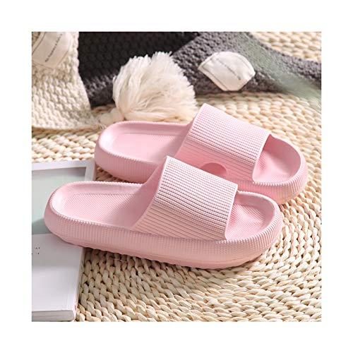DGJU Pillow Slides Slippers Cloud Feet Ultra Soft Slippers Superweiche Hausschuhe Unisex Comfort Slide Sandalen Thickened Non-Slip Sandals (pink, 38-39)