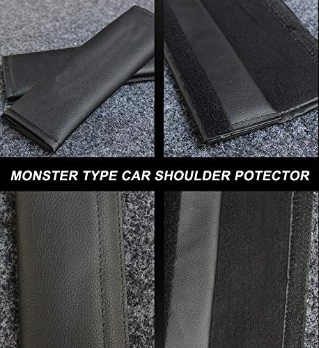 Mlzaq 2 Pcs Car Seat Belt Cover Stoper Auto Safety Belt Cover Seat Cover Car-Child Shoulder Leather Pads Cushion Harness Accessories (Color Name : 2 Pcs Black)