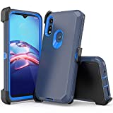 xihaiying Moto E 2020 Case,Heavy Duty Hard Shockproof Protector Shield Case Cover with Belt Clip and Kickstand for Motorola E 2020 Phone (Navy Blue)