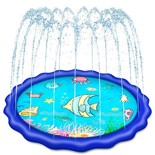 Holiky Sprinkler for Kids, Upgraded 68' Baby Pool Toys for Kids 3-10, Toddlers Outdoor Water Toys Inflatable Splash Pad Mat, Toys for 3 4 5 6 7 8 9 10 Year Old Boys and Girls