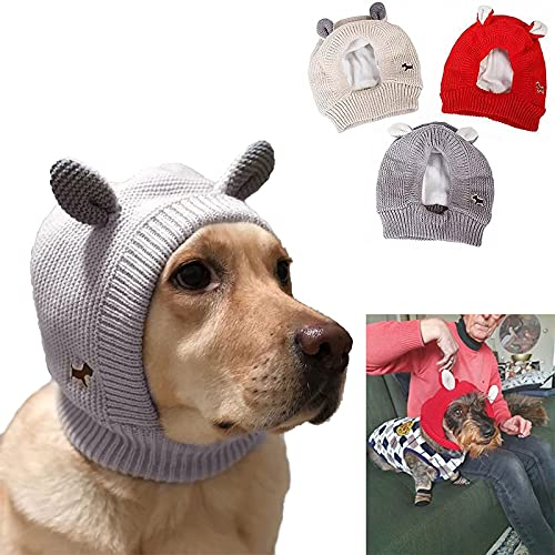 Quiet Ears for Dogs, Dog Ear Muffs Noise Protection, The Grooming and Force Drying Miracle for Anxiety Relief Calming (Grey)