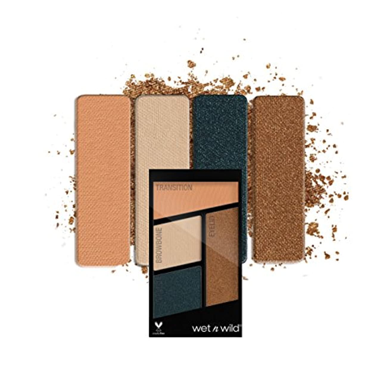 離婚許容調和(3 Pack) WET N WILD Color Icon Eyeshadow Quad - Hooked On Vinyl (並行輸入品)