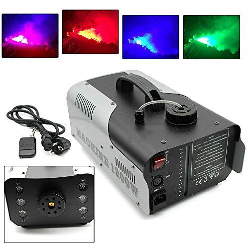 Máquina de humo de 1200 W, 6 x 3 W RGB, luz LED para oficina/boda/bar/ktv/bar