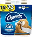 Charmin Ultra Soft Cushiony Touch Toilet Paper, 18 Family Mega Rolls = 90 Regular Rolls
