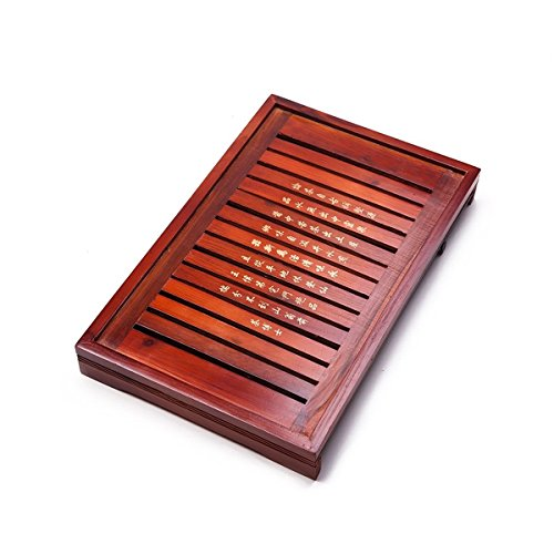 """Solid Wood Reservoir & Drainage Type Kung Fu GongFu Tea Table Serving Tray L18.03"""" x W11.34"""" x H2.36"""" (45.8CM X 28.8CM X 6CM)"""