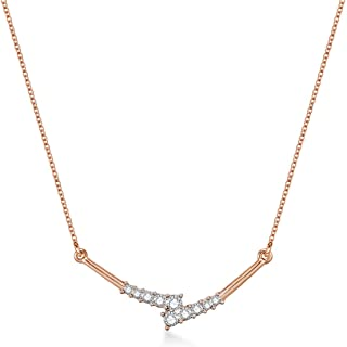 Mestige Women Glass Rose Gold Briella Necklace with Swarovski Crystals