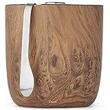 S'well Ice Bucket + Tongs Carafe, 2L/68oz, Teakwood...