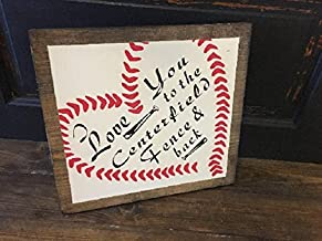 Delia32Agnes I Love You to The Centerfield Fence and Back Wood Signs Funny for Home Decor