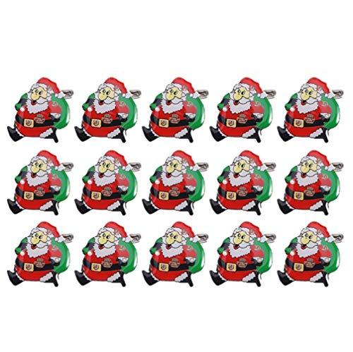 SOIMISS Weihnachten Santa Claus Abzeichen Brosche Pin mit LED-Licht Set für Kinder Geschenk 50 Stück