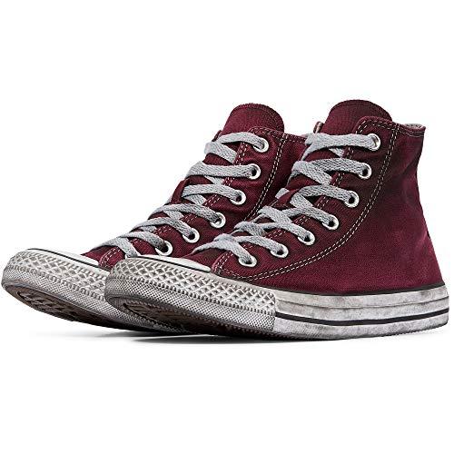 Converse Unisex Limited Edition All Star Hi Ltd, Sneakers Chuck Taylor Ltd 160152C/MAROON Smoke, in Tela, Bordeaux, Nuova Collezione Primavera Estate 2018